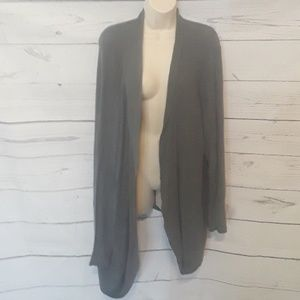 [ AVA & VIV ] SZ 4X THIN KNIT GRAY CARDIGAN